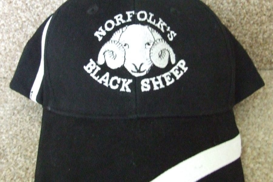 Black Sheep cricket cap detail